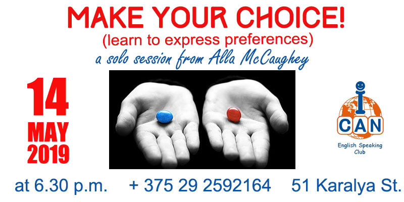 Make Your Choice! or Learn to Express Preferences