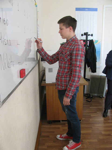 Traditional Spelling Contest in ICAN Club, an English speaking Club in Minsk, Belarus, for non-native speakers of English