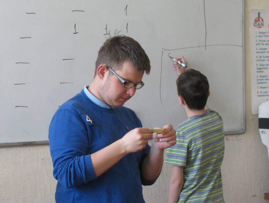 Traditional Spelling Contest in ICAN Club, an English speaking Club in Minsk, Belarus, for non-native speakers of English.