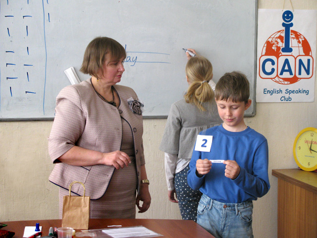 Traditional Spelling Contest in ICAN Club, an English speaking Club in Minsk, Belarus, for non-native speakers of English. Flash back 2014