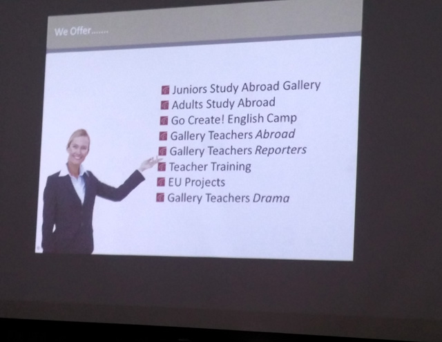 Giovanni Rottura' presentation at Gallery Teachers Open Day in Belarus