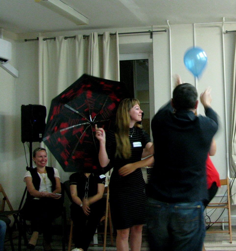 The 9th Birthday Party in ICAN Club. Mary Poppins improvisation