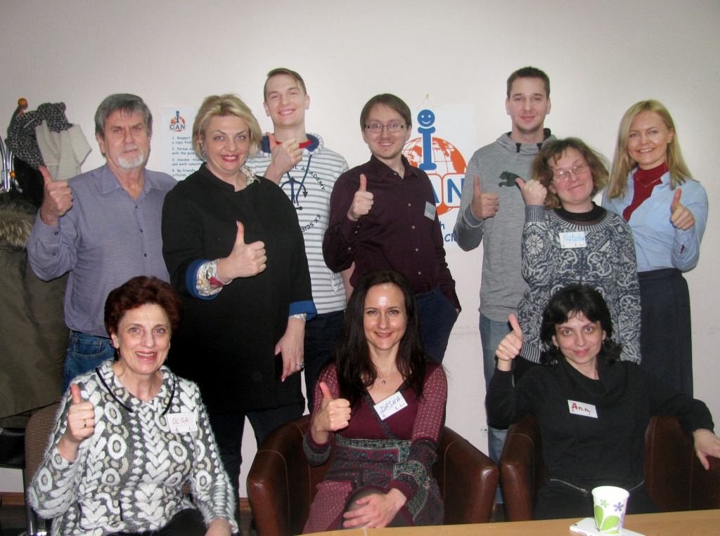 A session on global travelling in ICAN English speaking Club (Minsk) with cyclist Aleksey Landres.