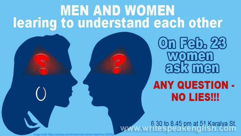 Men and Women Learning to Understand Each Other: Women Ask Men