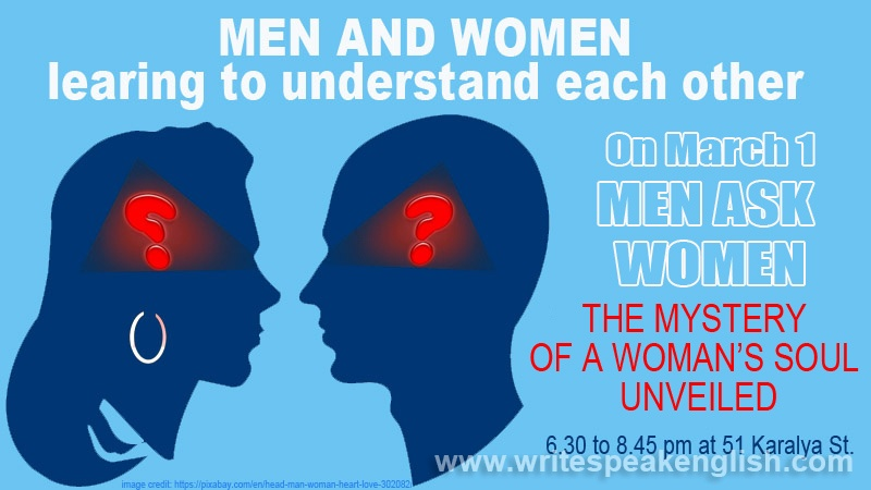 Men and Women Learning to Understand Each Other: Men Ask Women