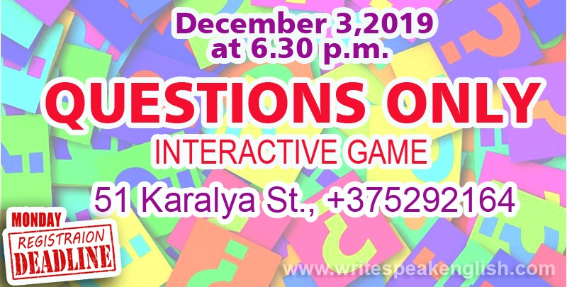 Questions Only (Interactive Game)-2019