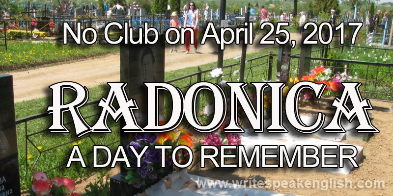 No Club on April 25, 2017: Radunica